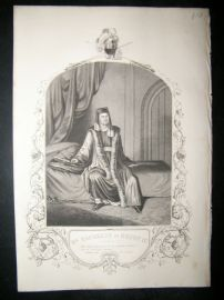 Works of Shakespere 1850 Steel Engraving. Mr Macready As Henry IV